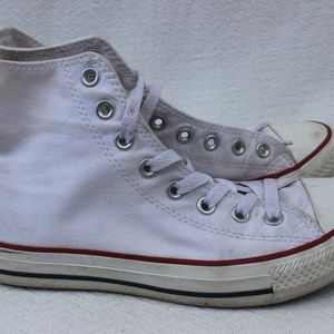 Converse White High Tops sz 8.5
